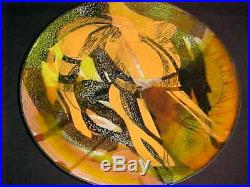 10+ Modern American Enamel Copper Art Plate Midcentury Abstract Painting Design