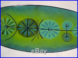10+ Signed Noir Modern Enamel Copper Art Tray Midcentury Abstract Painting Nice