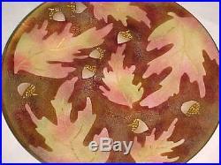 11 Signed Millie Crutchfield Modern Enamel Copper Art Plate Midcentury Painting