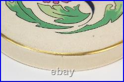 1910 Art Nouveau American Satsuma Hand Painted Enameled Dresser Jar Ledwich
