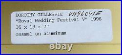 1996 DOROTHY GILLESPIE Royal Wedding ALUMINUM enamel PAINT wall SCULPTURE