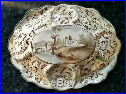 19TH Stunning Antique Vintage Austrian Viennese cherubs Painting Enamel Plate