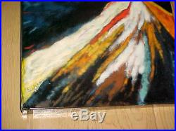 28 X 18 Signed Dick&marie Eyres Modern Enamel Steel (not Copper) Art Painting