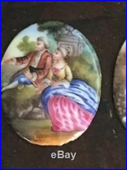2 French Miniatures in Enamel 18th century