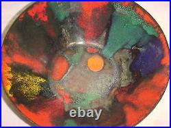 50s Frank Lee Modern Enamel Copper Art Midcentury Provincetown Abstract Painting