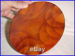 8 3/4 Modern Canadian Enamel Copper Art Plate Midcentury Abstract Painting Nice
