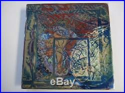 Alfonso Hanging Sculpture Metal Modernism Enamel Painting Swirl Abstract Drip