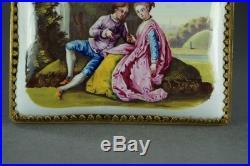 Antique 18th Century Miniature Battersea Bilston Enamel Plaque Picture C 1760
