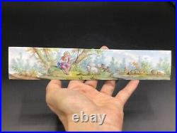 Antique 19th century French painting on enamel plaque