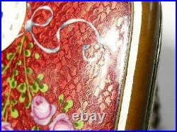 Antique Art Deco Hand Painted Guilloche Enamel Minaudiere Combination a/f