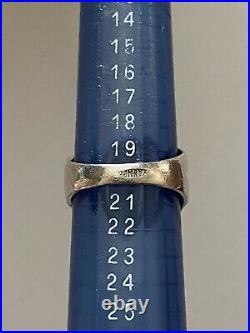 Antique Art Nouveau Sterling Silver Ring Enamel Painted 925