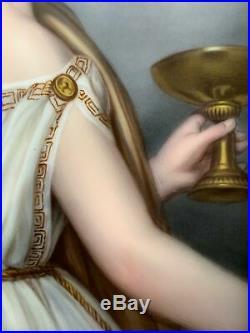 Antique Bavarian Enamel Porcelain Painting Antonia Wallinger C. M. Hutschenreuth