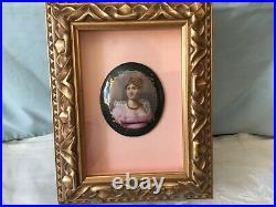 Antique Painting on Porcelain of Josephine, Empress of France, wife of Napoleon