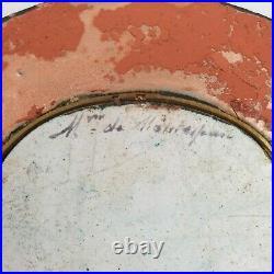 Antique Portrait Miniature Of Mme De Montespan Enamel On Copper