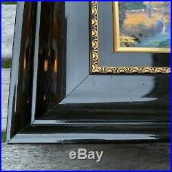 Antique Signed French Art Nouveau Limoges Enamel over Copper Painting Plaque