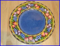 Antique Wedgwood Cabinet Plate Blue Lustre Hand Painted Enamel Arts & Crafts