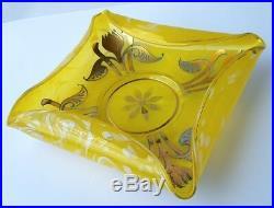 Art Nouveau Bowl, Glass, Enamel Painting, Sassnitz a R, Reprove, Um 1910 K919