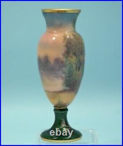 Art Nouveau French Limoges Enamel Painted Cabinet Vase Circa 1900