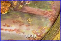 Artist Signed French Limoges Enamel on Copper Miniature Painting 19th Century