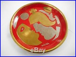 Australian Artist Bernard Hesling Enamel Hand Painted Vitreous Dish