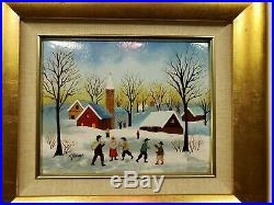 Authentic Charles H Penny Enamel On Copper Painting With Coa