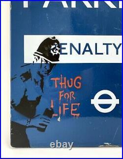 BANKSY Police notice Signed Enamel sign Spray Rare