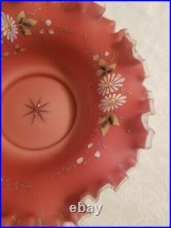 Beautiful(10) Fenton Painted Enamel Brides Basket