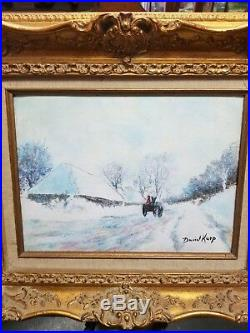 Beautiful Enamel On Copper Painting By David Karp-signed, High Quality