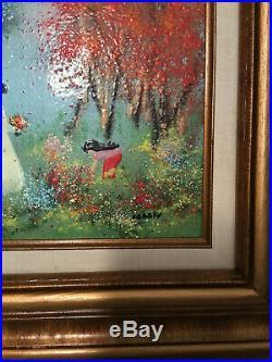 Beautiful Painting Enamel on Copper Signed Louis Cardin
