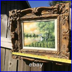 Beautifully Framed Enamel On Copper Original Painting Listed Charles Parthesius