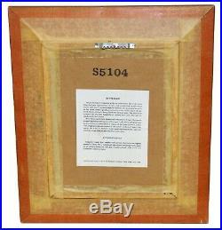 Betty Chou Original Signed & Numbered Enamel On Copper Winter Landscape Framed