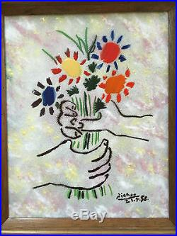 Bouquet by Picasso Done By Max Karp Enamel On Copper Original