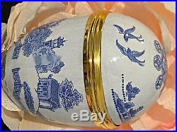 Crummles Hand-painted English Enamels Vintage Japanese Art Egg or Trinket Box