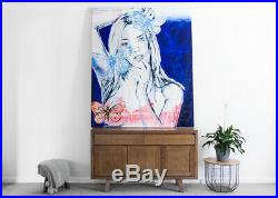 DAVID BROMLEY NUDE'Adele' (180 x 150) Acrylic & enamel on canvas (RRP$21k)