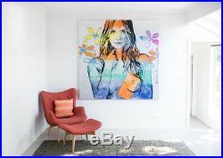 DAVID BROMLEY NUDE'Rosie' (180 x 180) Acrylic & enamel on canvas (RRP $24k)