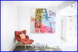 DAVID BROMLEY NUDE'Taylor' (180 x 180) Acrylic & enamel on canvas (RRP $24k)