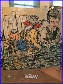 DAVID BROMLEY'Set Sail' (198 x 198) acrylic & enamel on canvas (RRP $28k)