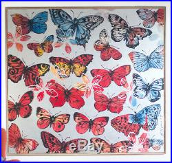 DAVID BROMLEY'Spring Butterfly' (198x198) Acrylic & enamel on canvas (RRP $28k)