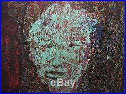 Dan Hitchcock Oregon Vintage Abstract Expressionist Andy Warhol Portrait Enamel