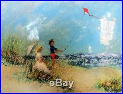 David Karp Enamel on Copper Painting 13 x 11