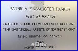 EUCLID BEACH LATEX ENAMEL PAINTING ON CANVAS by PATRICIA ZINSMEISTER PARKER