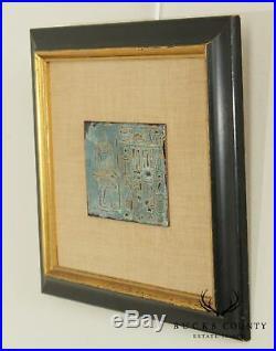 E. Wentz Ancient Tablet Framed Enamel Copper Egyptian Painting