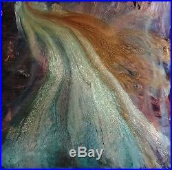 Elan Vital Original Enamel Painting, 36x36