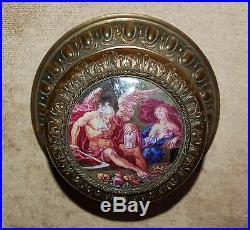 Emailmalerei Memento Mori Ikone Schatulle Vanitas Chronos 1800 Enamel Emaux