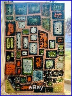 Enamel On Copper Abstract Art 18.25 X 12