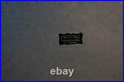 Enamel On Copper Painting, Original Jaroslav Lukes Framed Painting, Elk Snow