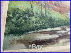 Enamel On Copper Painting VINTAGE MCM Signed Listed Artist CAROL SIMKIN / KARP