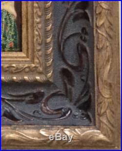 Enamel miniature The Kiss (Lovers) hand painted copy of Gustav Klimt