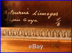 Fabulous Limoges Enamel on Copper Manuel Osorio Manrique de Zuñig after Goya