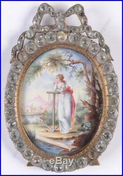 Faithful wife, Swiss enamel miniature, late 18th century